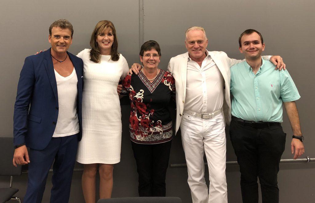 Auftritt in Deggendorf mit Reiner Kirstren Veranstalterin Frau Rabenauer und Siohn Patrick
